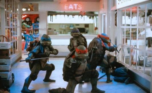 les tortues ninja 2 en position de combat