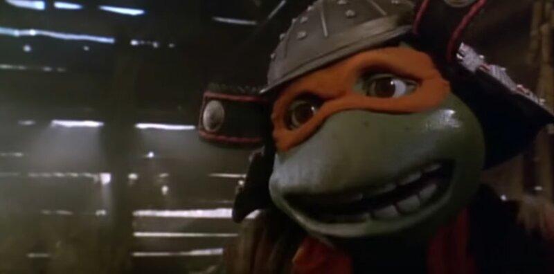 les tortues ninja 3 michaelangelo en tenue de samourai