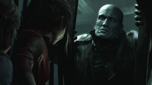resident evil 2 remake claire redfield et sherry birkin face à mr x