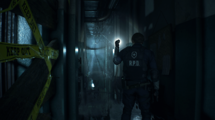 resident-evil-2-remake couloir du commissariat