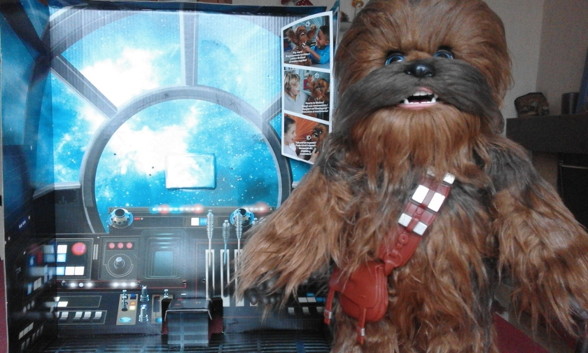 star wars chewie furreal salle de pilotage faucon millenium