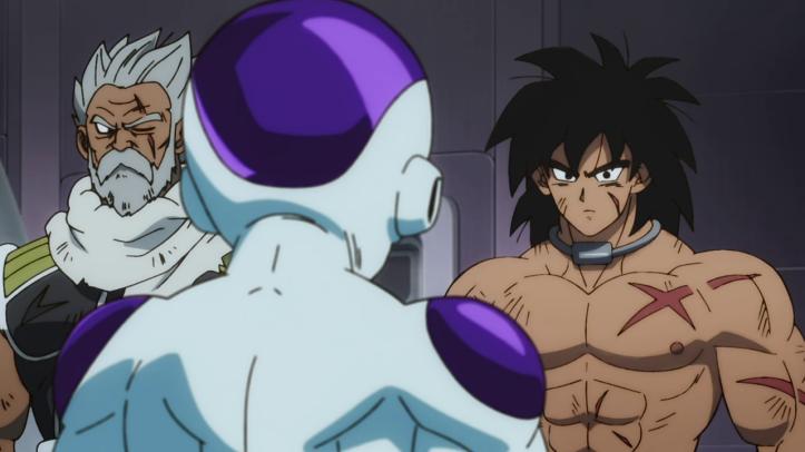 Dragon ball super broly paragus et son fils broly face à freezer