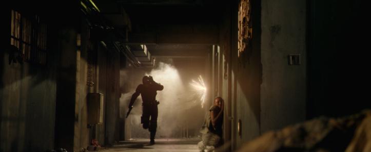 Dredd 2012 dredd echappant à tes tirs de gatling gun