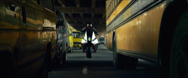 Dredd 2012 en moto