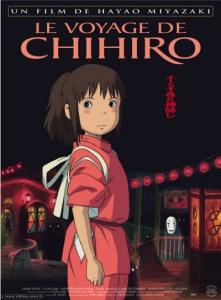 Le voyage de chihiro Hayao Miyazaki affiche