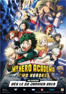 my hero academia two heroes affiche
