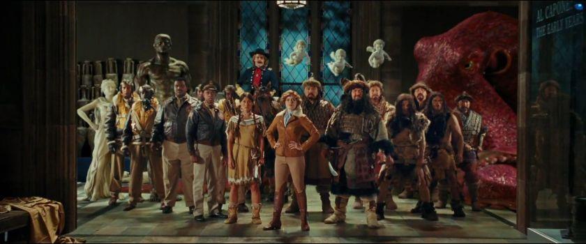 la nuit au musée 2 amélia earthart entourée de tous ses nouveaux compagnons pour le duel final