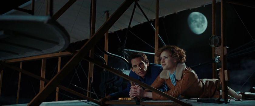 la nuit au musée 2 larry et Amelia Earthart volent en pleine nuit à bord du Wright Flyer