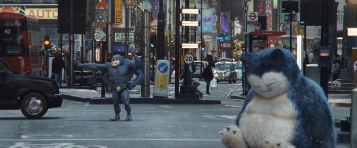 Détective pikachu film machogneur fait la circulation pendant que ronflex la bloque