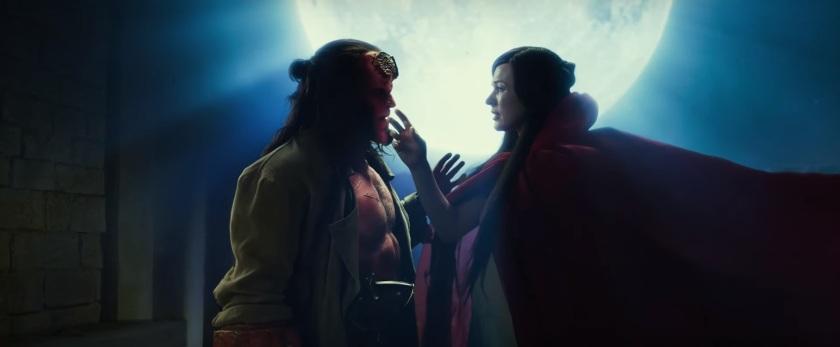 Hellboy 2019 la sorcière nimue tente de séduire hellboy