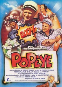 Popeye 1980 robin williams Affiche espagnole