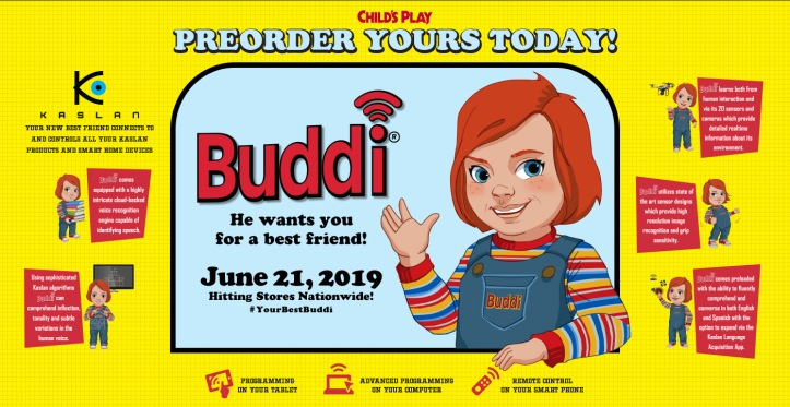 Childs play 2019 publicité site internet Buddi