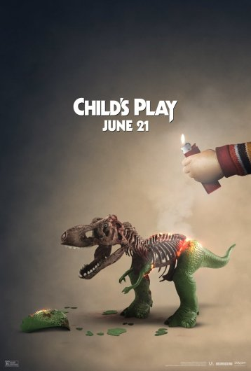 childs play rex toy story brulé