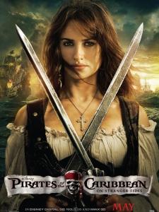 pirates des caraïbes la fontaine de jouvence Angelica poster promo