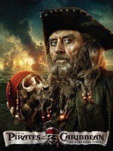 pirates des caraïbes la fontaine de jouvence Barbe Noire poster promo