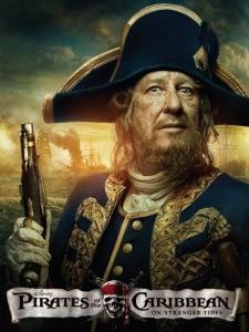 pirates des caraïbes la fontaine de jouvence Barbossa poster promo
