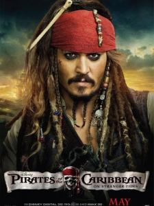 pirates des caraïbes la fontaine de jouvence jack sparrow poster promo