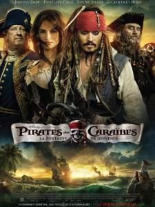 Pirates des Caraibes La fontaine de Jouvence affiche
