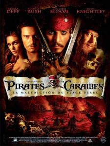 Pirates des Caraibes la malédiction du black pearl 2003 affiche