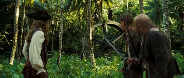 Pirates des caraibes le secret du coffre maudit scène de la roue