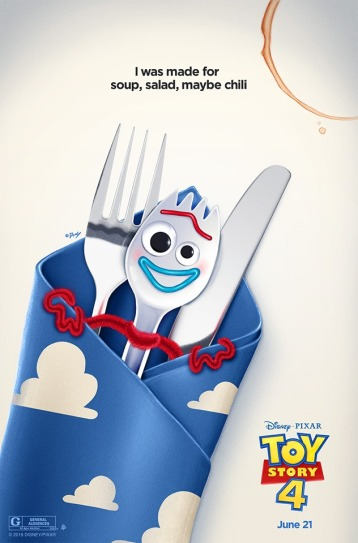 Toy Story 4 affiche fourchette avec d'autres couverts
