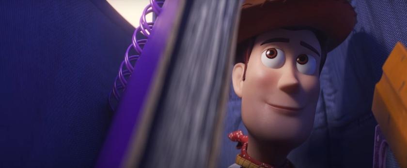 Toy Story 4 Woody heureux dans le sac de bonnie
