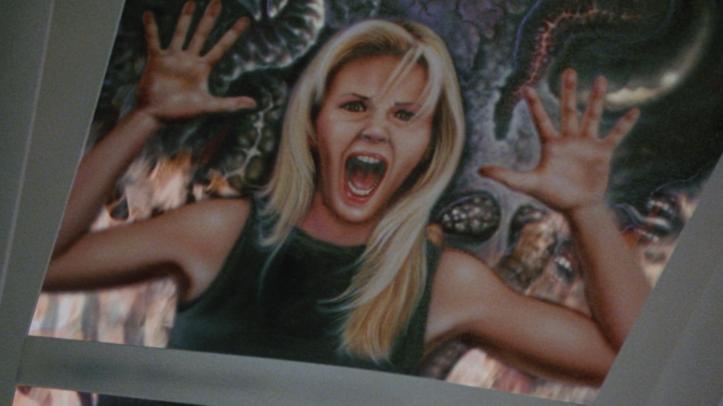 Wishmaster 1 peinture d'une femme hurlant de terreur