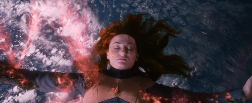 x men dark phoenix jean inconsciente dans l'espace