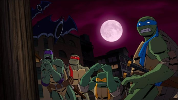 batman vs teenage mutant ninja turtles 2019 Les tortues ninja sous le choc en découvrant des batarangs