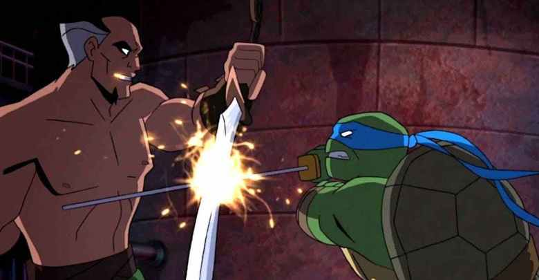 Batman Vs Tmnt 2019 Leonardo affronte au katana Ras al ghul