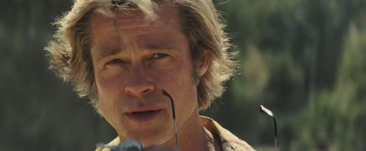 once upon a time in hollywood cliff retirant ses lunettes de soleil
