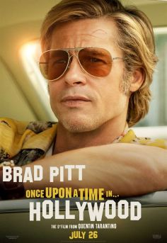 Once Upon a Time… in Hollywood Affiche promo de brad pitt