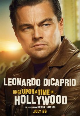 Once Upon a Time… in Hollywood Affiche promo de leonardo dicaprio