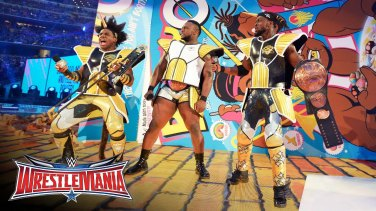 WWE le New Day en tenue de Saiyan de Dragon Ball z