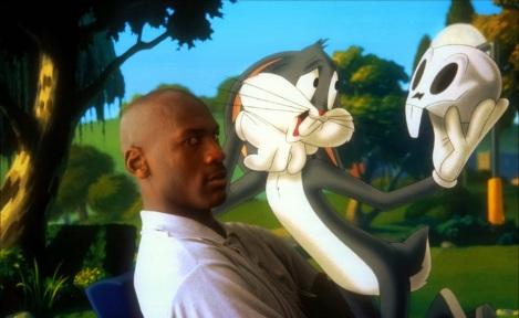 space-jam-Bug Bunny nous cite Shakespeare devant un Michael Jordan s'interrogeant