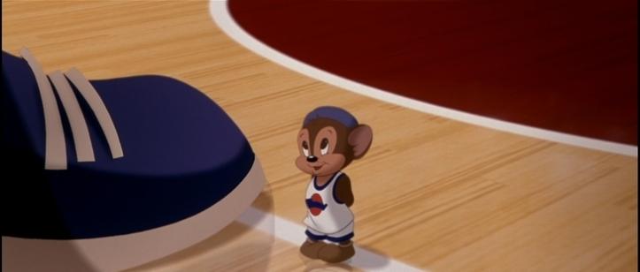 Space Jam sniffles le looney tunes bavard J'adore le basketball, j'ai toujours aimé le basketball, et toi t'aimes le basketball T'es grand Je parie que t'es un vrai champion. Moi je suis petit mais je travaille très très d