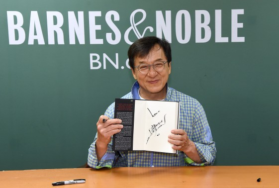 "Jackie Chan Signs Copies Of His New Book ""Never Grow Up"""