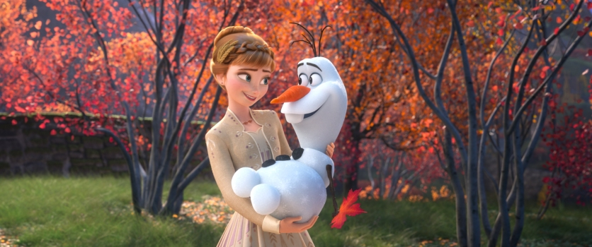 """SOME THINGS NEVER CHANGE – In """"Frozen 2,"""" Anna's positive spirit is reflected in a song she begins in an effort to assuage Olaf's uncertainty about the ever-evolving world around him. The song, """"Some Things Never Change,""""—which features Anna, Olaf, Elsa and Kristoff —introduces the idea of change to the story, and despite its title, it's also a promise that change is on the horizon. Featuring the voices of Kristen Bell, Josh Gad, Idina Menzel and Jonathan Groff, Walt Disney Animation Studios' """"Frozen 2"""" opens in U.S. theaters on Nov. 22, 2019. © 2019 Disney. All Rights Reserved."""