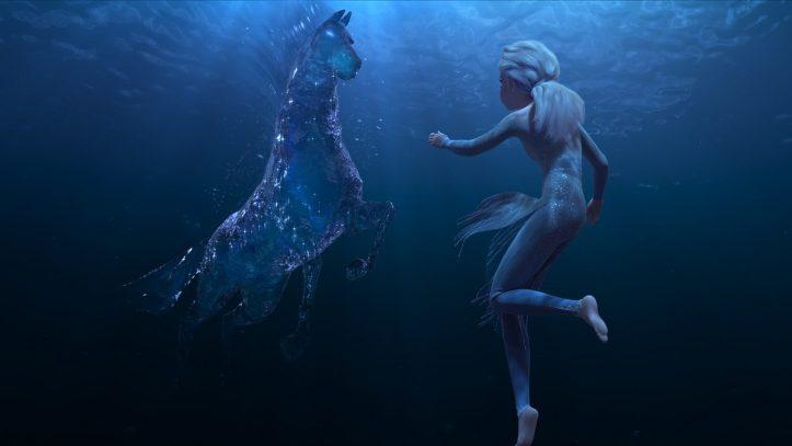 La reine des neiges 2 Elsa face au pouvoir de l'eau matérialisé en cheval