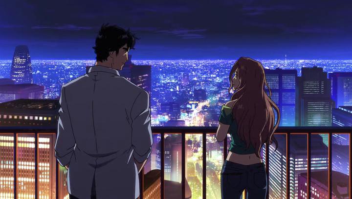 Nicky Larson Private eyes Nicky et Iris admirent Tokyo de nuit