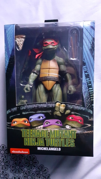 TEENAGE MUTANT NINJA TURTLE NECA ACTION FIGURE MICHELANGELO Neca avant d ela boite