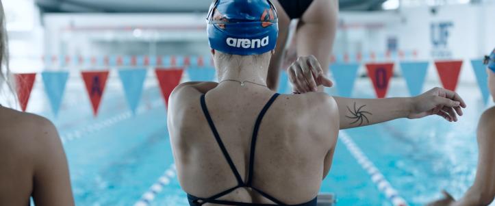 Crawl 2019 Haley Keller à une compétition de natation