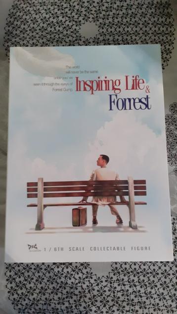 Forrest-Gump-dj-custom-fourreau-de-la-boite-représentant-un-homme-assis-sur-un-banc