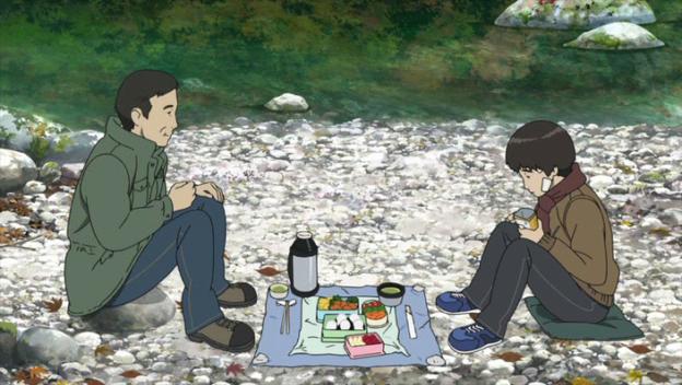 Colorful-makoto-mange-un-pique-nique-avec-son-père