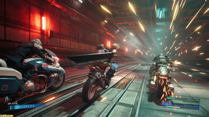 final-fantasy-VII-remake-affrontement-à-motos-dans-un-tunnel