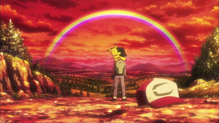 pokemon-je-te-choisis-film-sacha-et-pikachu-regardent-un-arc-en-ciel
