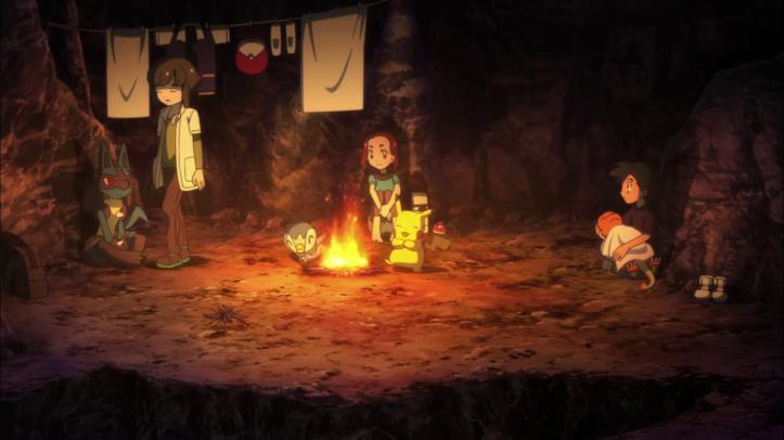 pokemon-je-te-choisis-film-sacha-et-ses-amis-ses-repose-dans-ungrotte-au-coin-du-feu