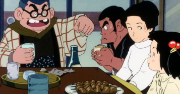Kié-la-petite-peste-monsieurhanai-réprimandant-à-table-tetsu-sous-lesyeux-de-kié-et-sa-mère