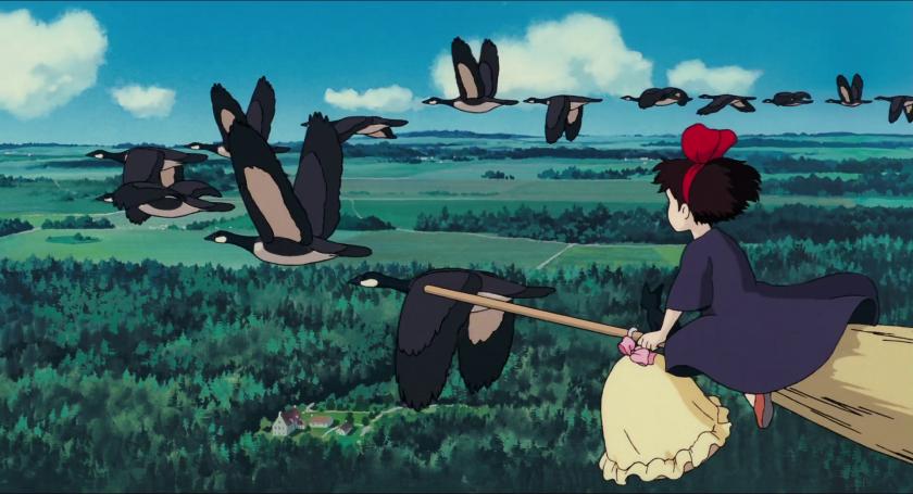 Kiki-la-petite-sorcière-kiki-volant-parmi-les-oies-sauvages