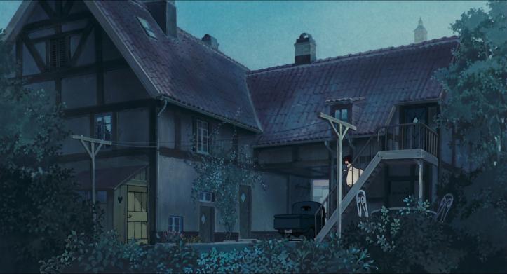 Kiki-la-petite-sorcière-la-maison-d'osono-la-nuit